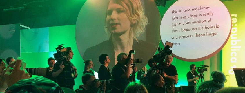 Die Wistleblowerin Chelsea Manning and der re:publica 2018 in Berlin
